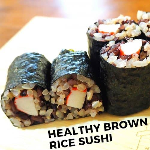 healthy brown rice sushi