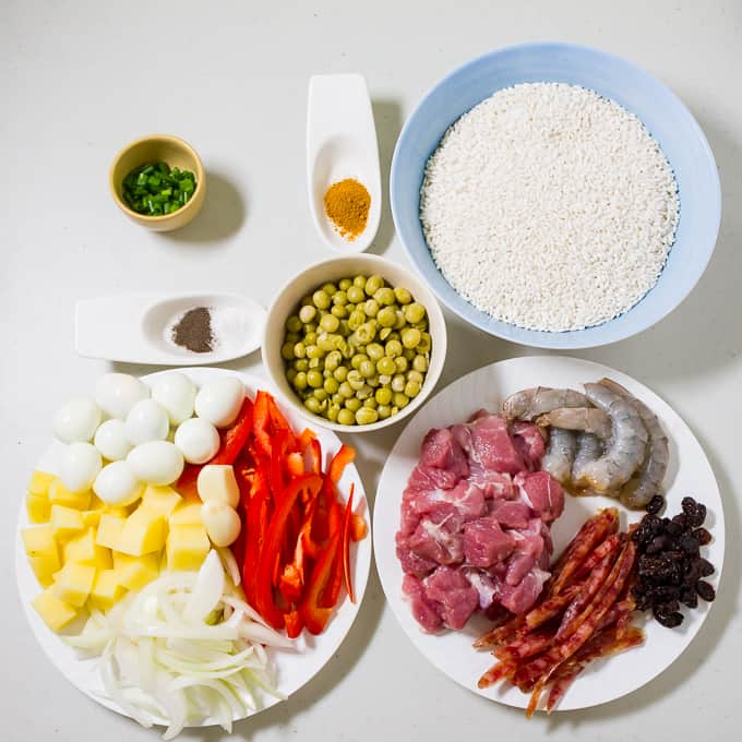 Arroz Valenciana Ingredients