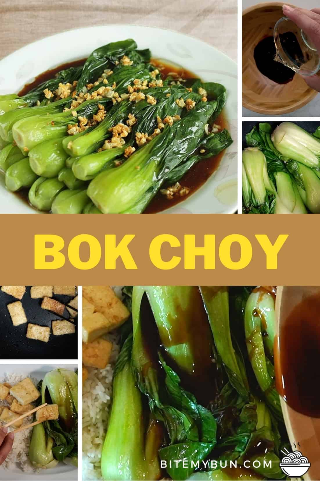 Bok Choy in oyster sauce stir fry