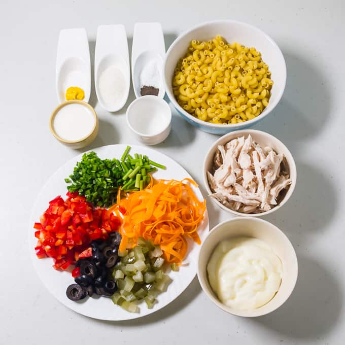 Chicken Macaroni Salad Ingredients