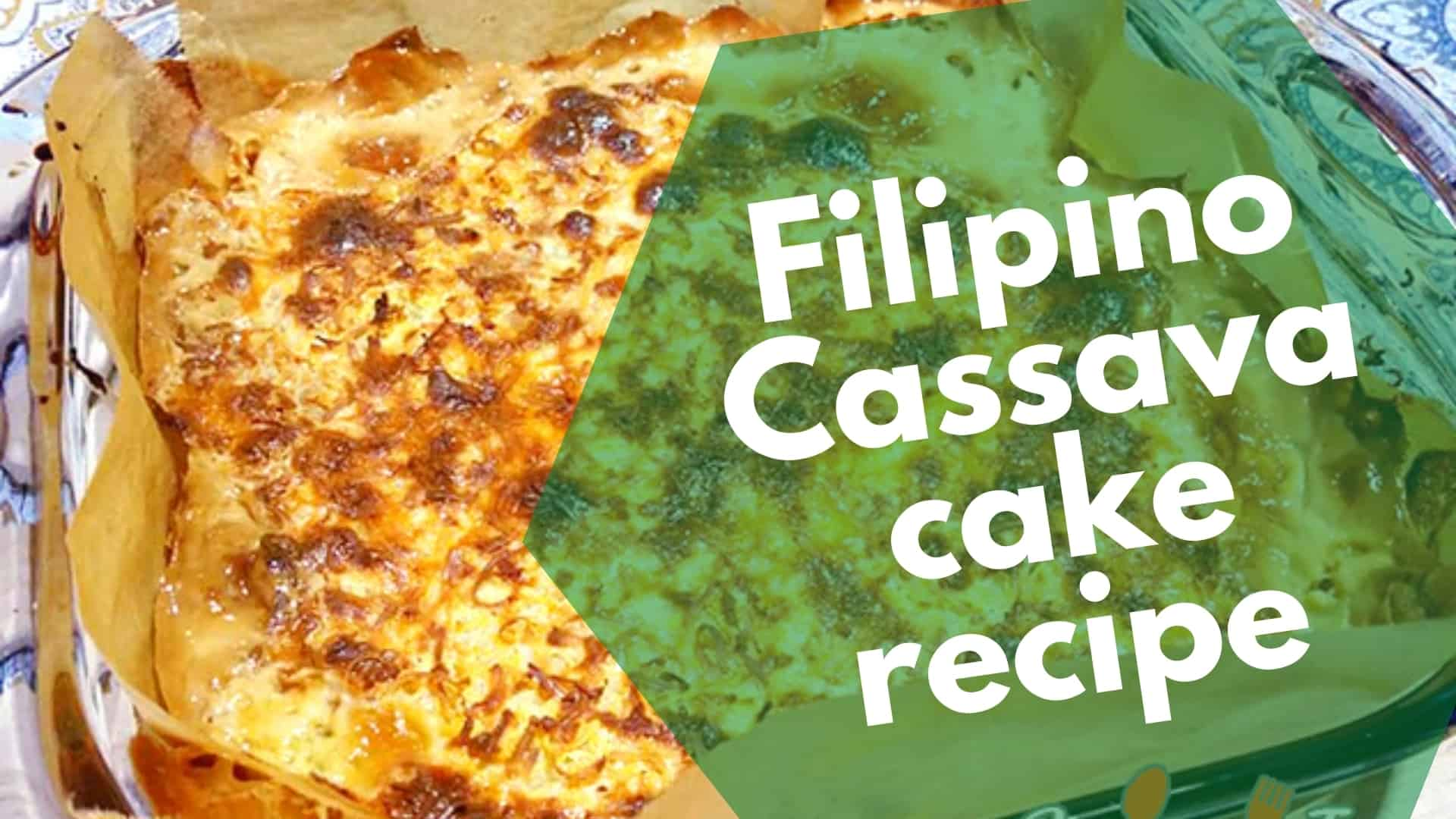 Easy, creamy & cheesy delicious cassava cake recipe