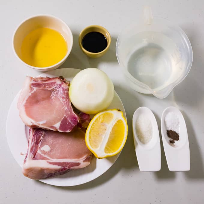 Filipino Pork chops Ingredients