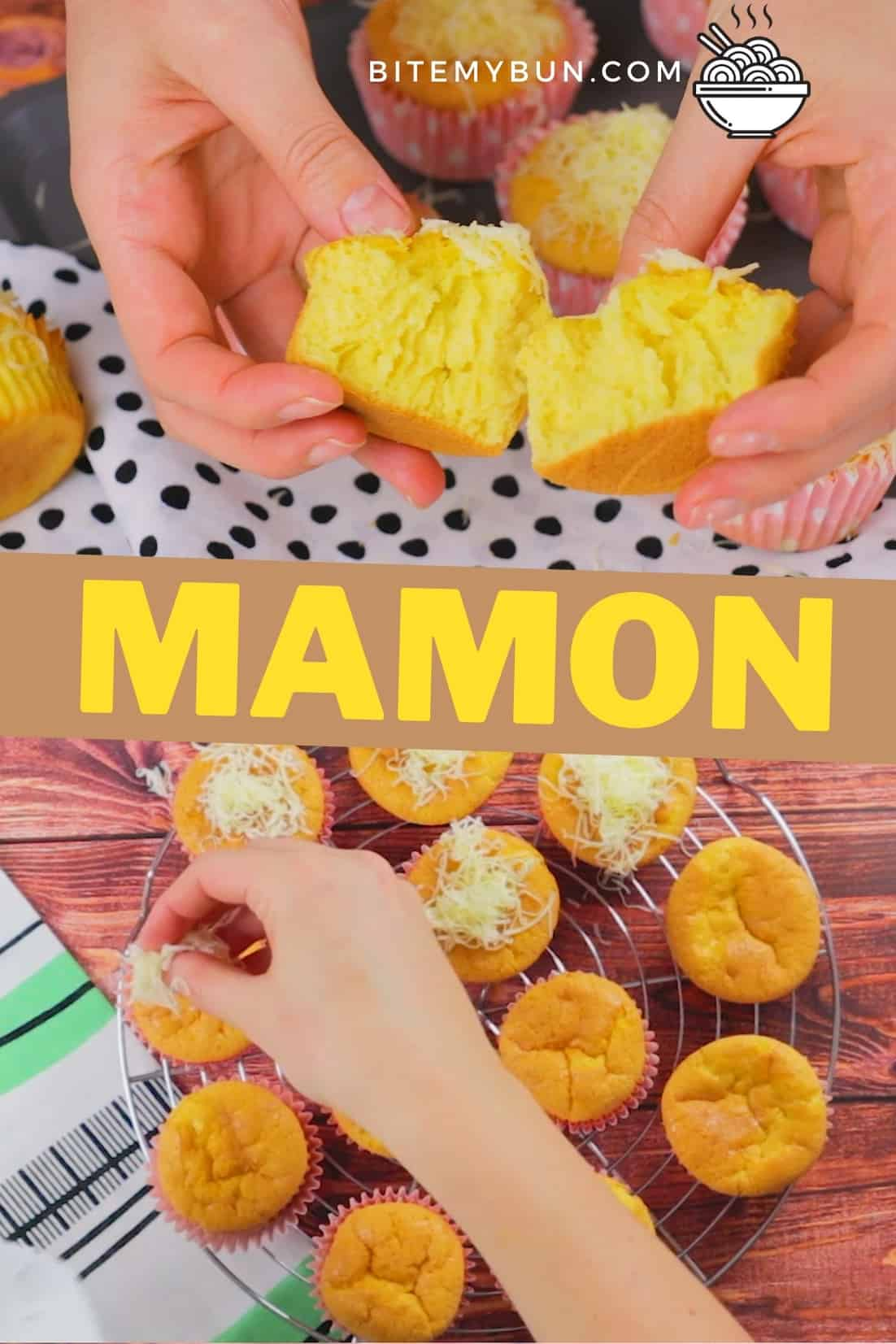 Filipino mamon sponge cake