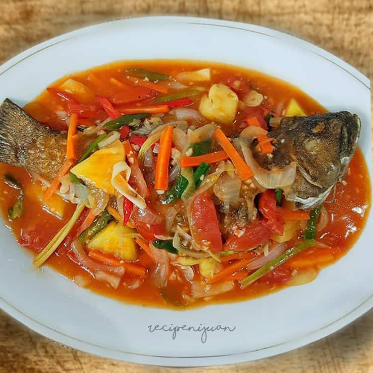 Fish with Sweet and Sour Sauce Escabeche
