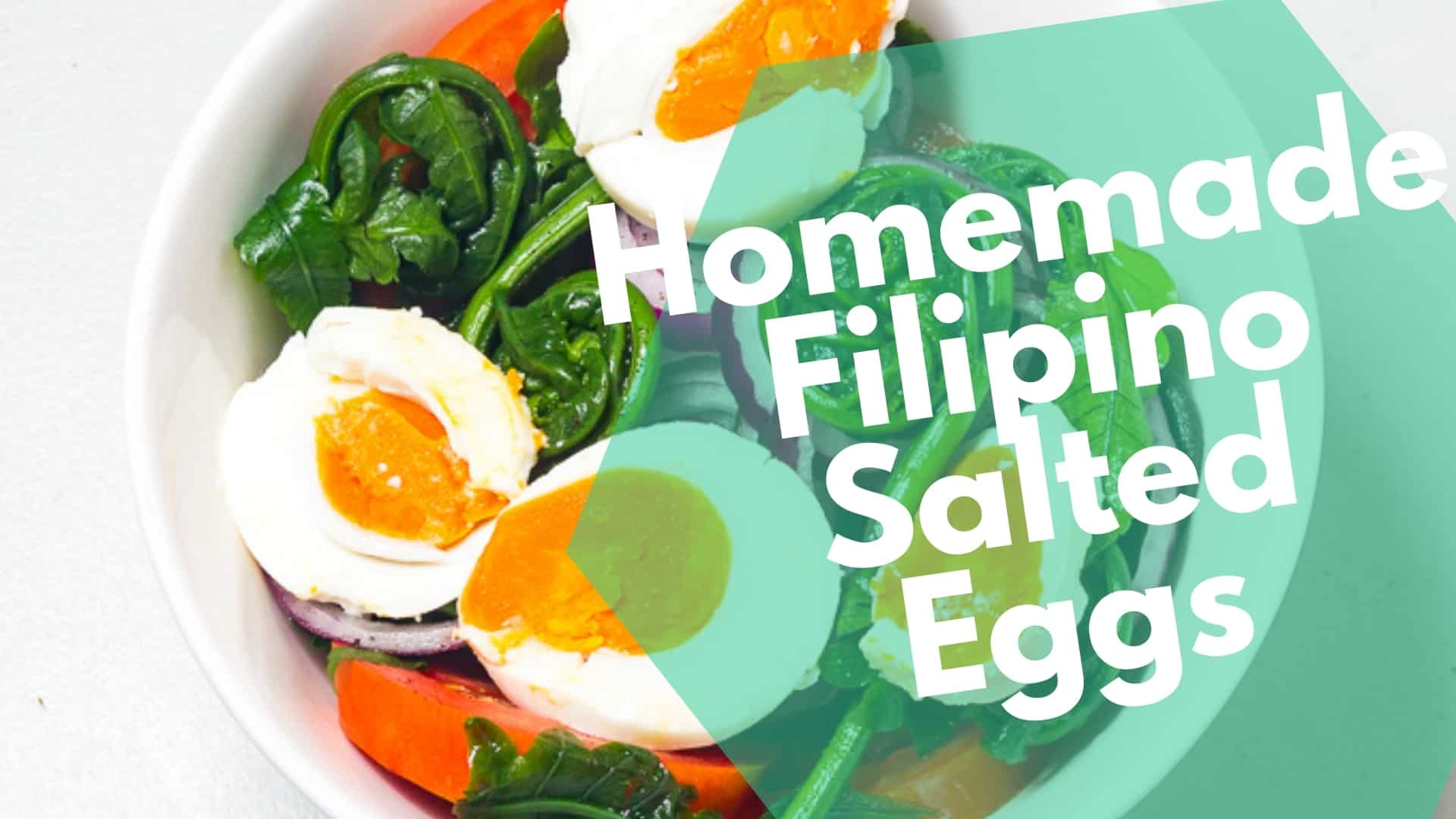 Homemade Filipino Salted Eggs