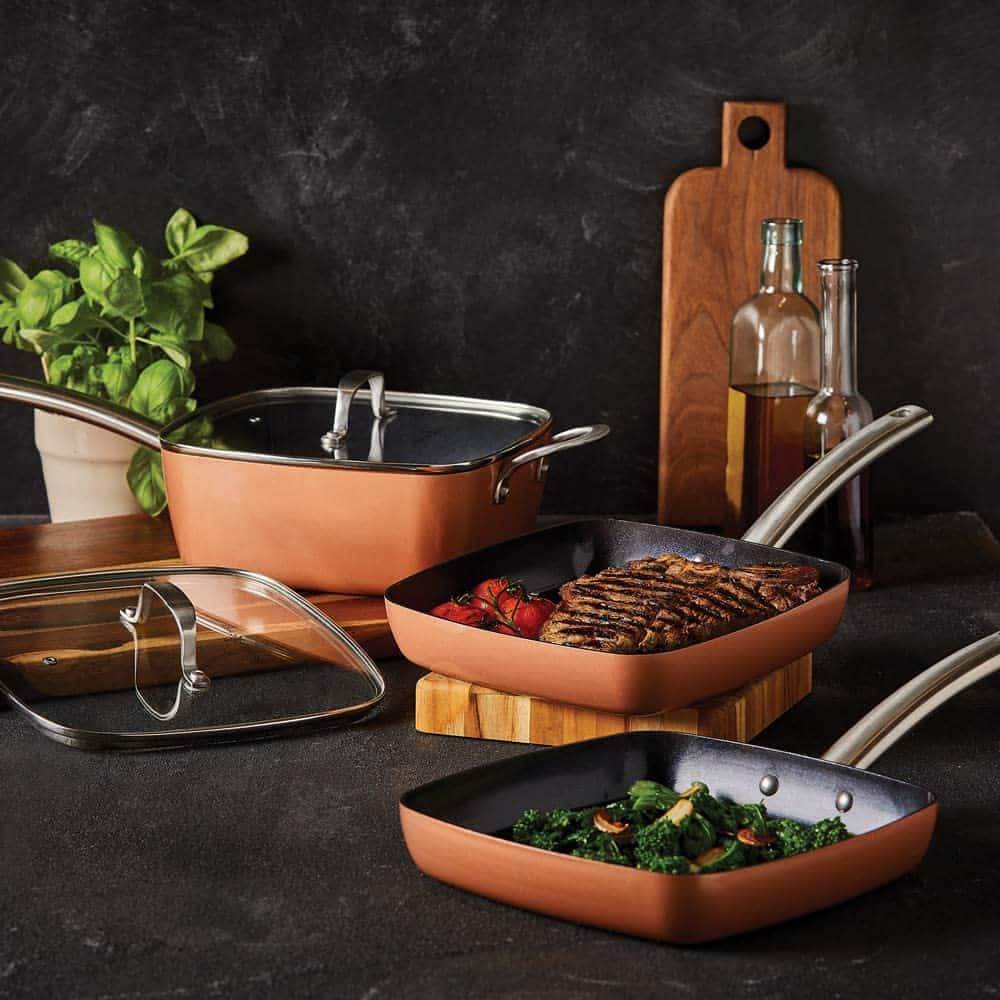 Best Budget Square Frying Pan Set: Copper Chef Square Stack-able