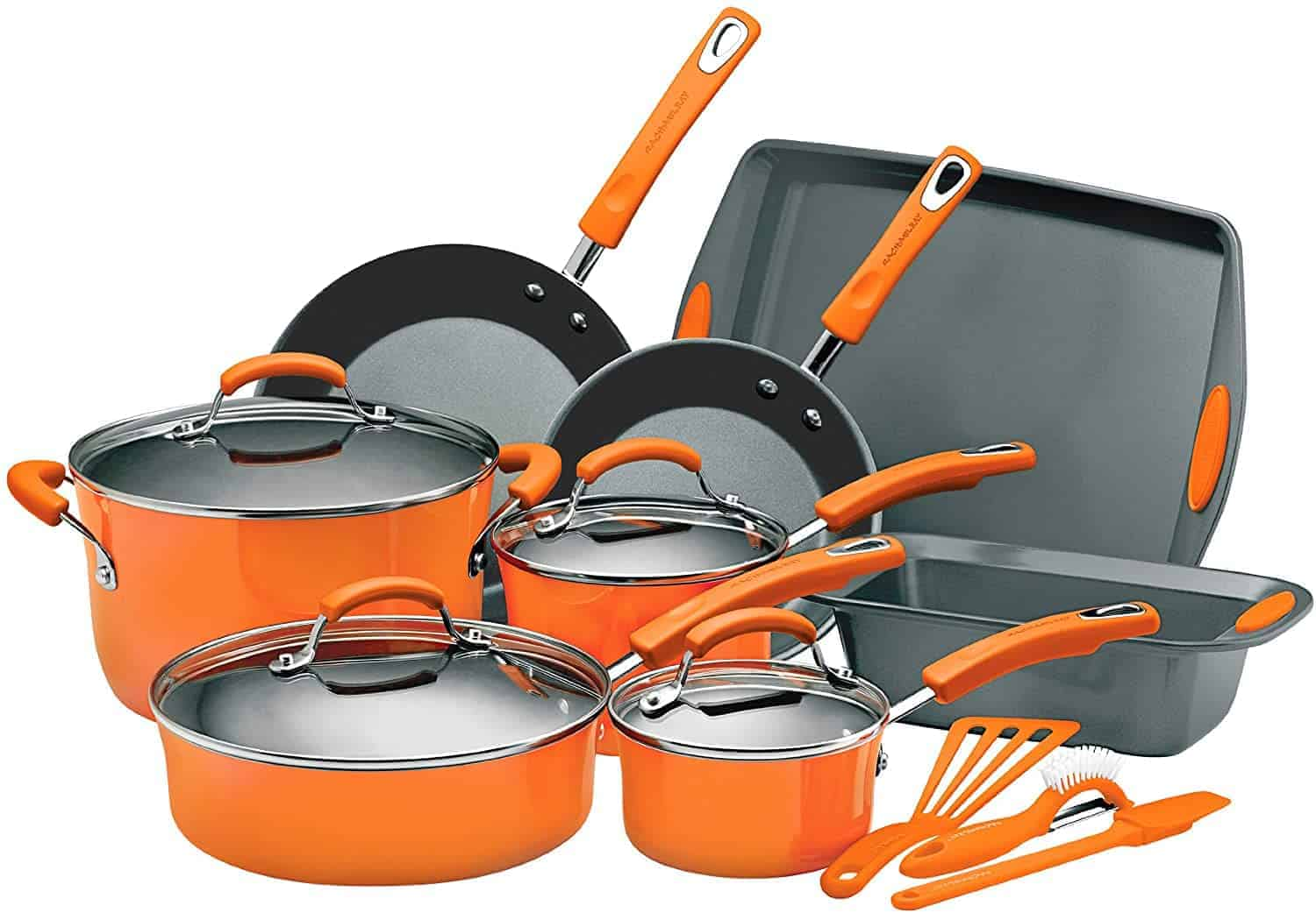 Best Enamel Cookware Set: Rachael Ray Porcelain Enamel 15-Piece Set