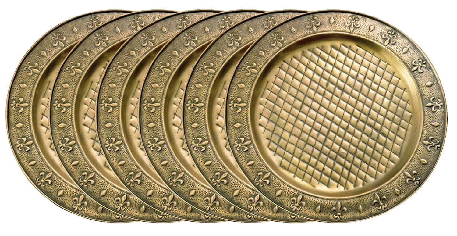 Best brass charger plates: Old Dutch