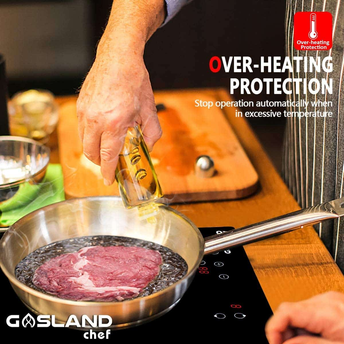 Best built-in induction stovetop for bachelor pad: Gasland