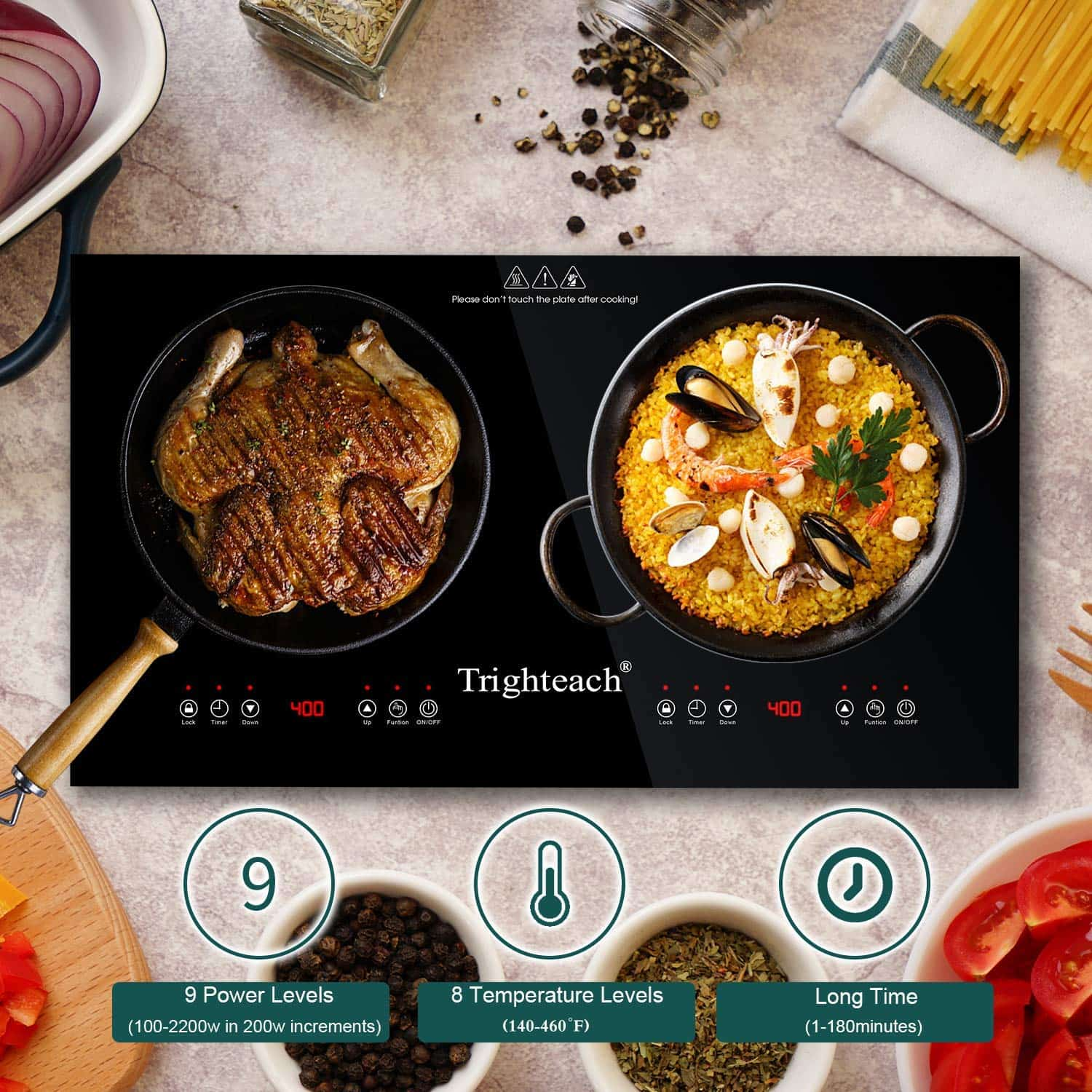 Best double burner induction stove for bachelors: Trighteach