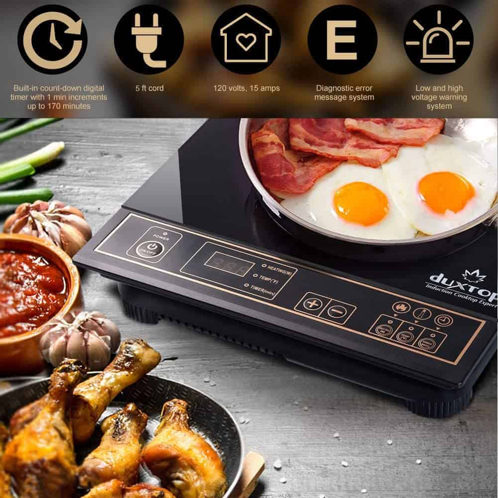 Best induction cooktop for Low Budget bachelors: Duxtop 1800w