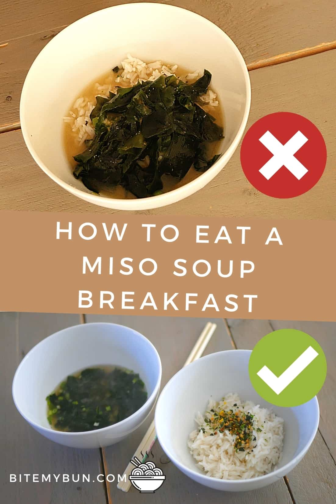 How to eat a miso soup breakfast
