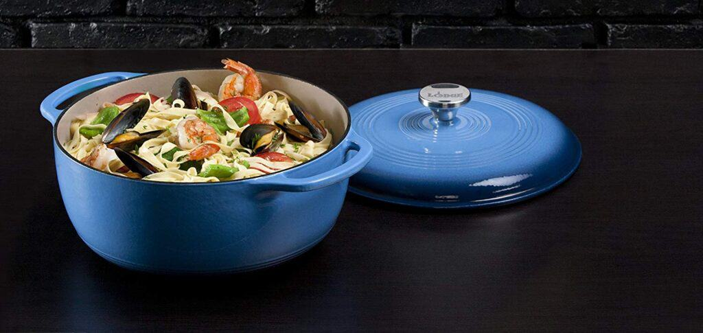 Best Enamel induction pan: Lodge Cast Iron Dutch Oven