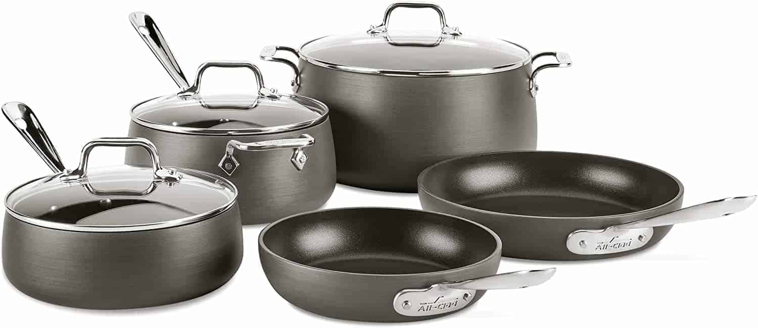 Best Non-Stick Induction Cookware Set: All-Clad HA1 8-Piece