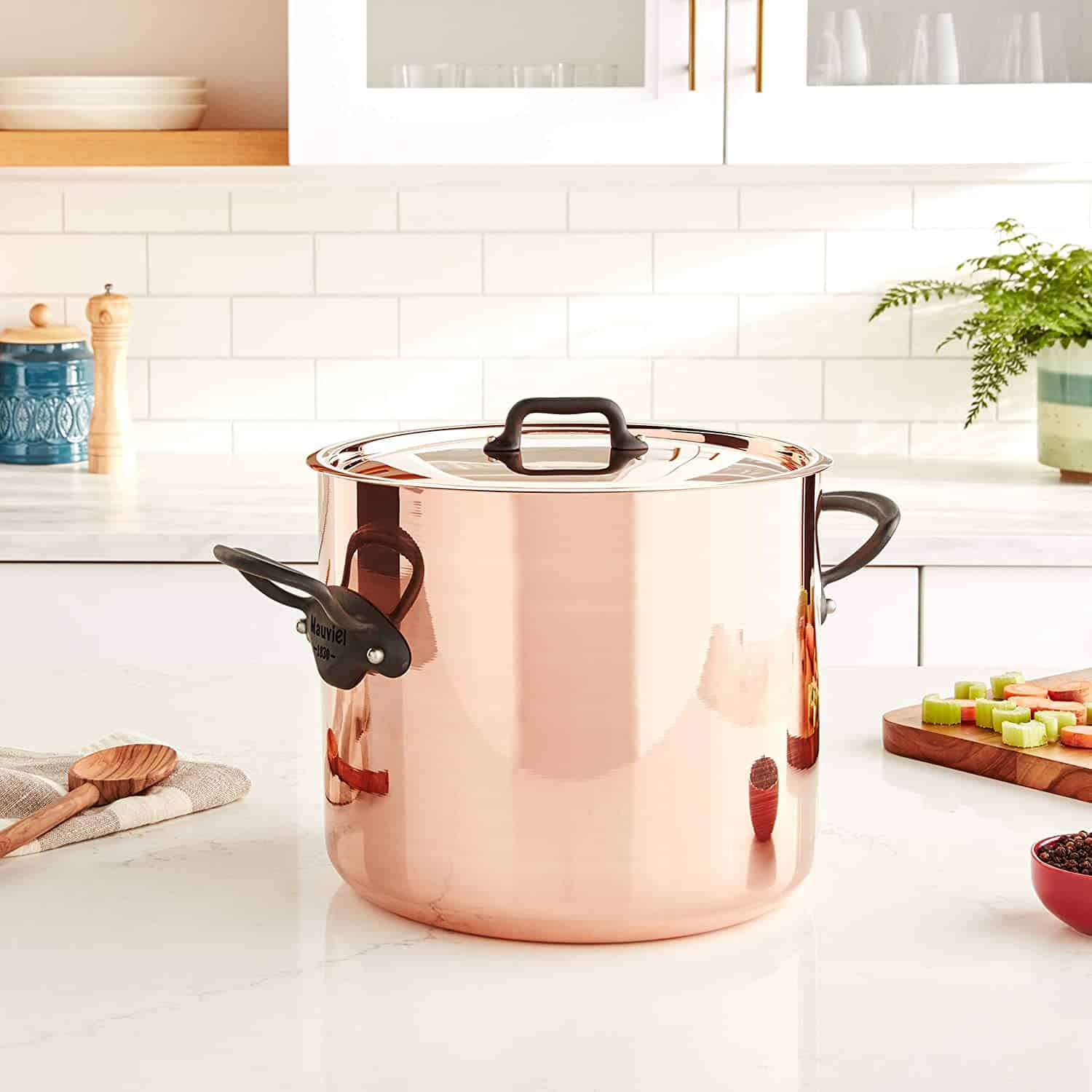 Best Tin Lined Copper Stockpot: Mauviel M-Heritage M150