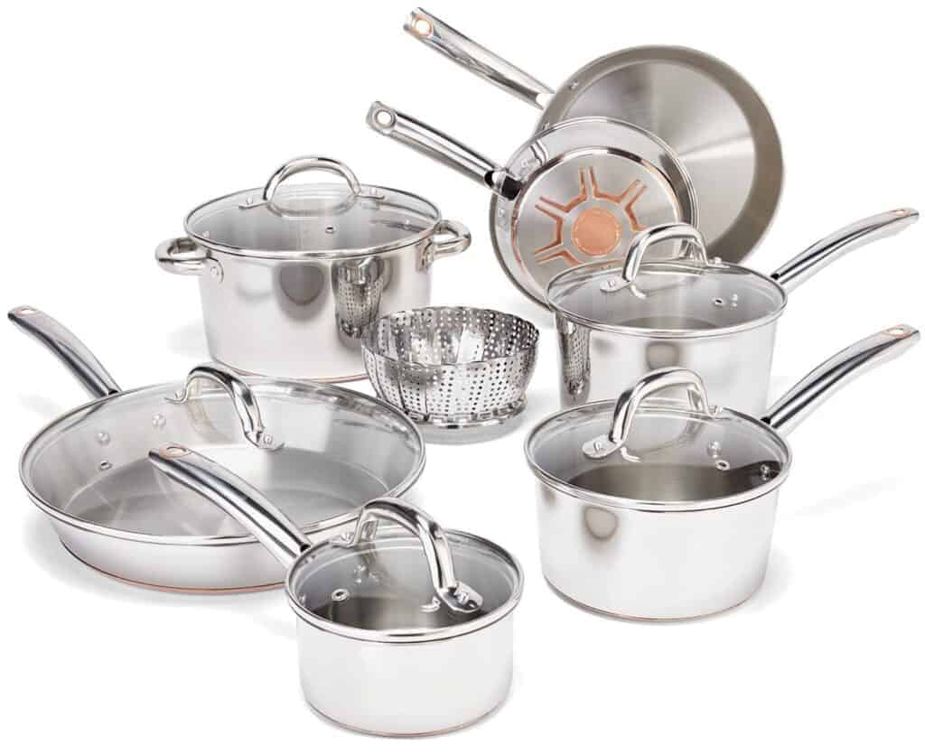 Best copper bottom cookware set: T-fal Ultimate Stainless Steel