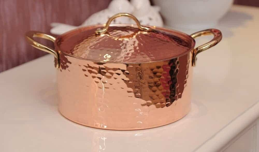 Best hammered copper soup pan: Demmex