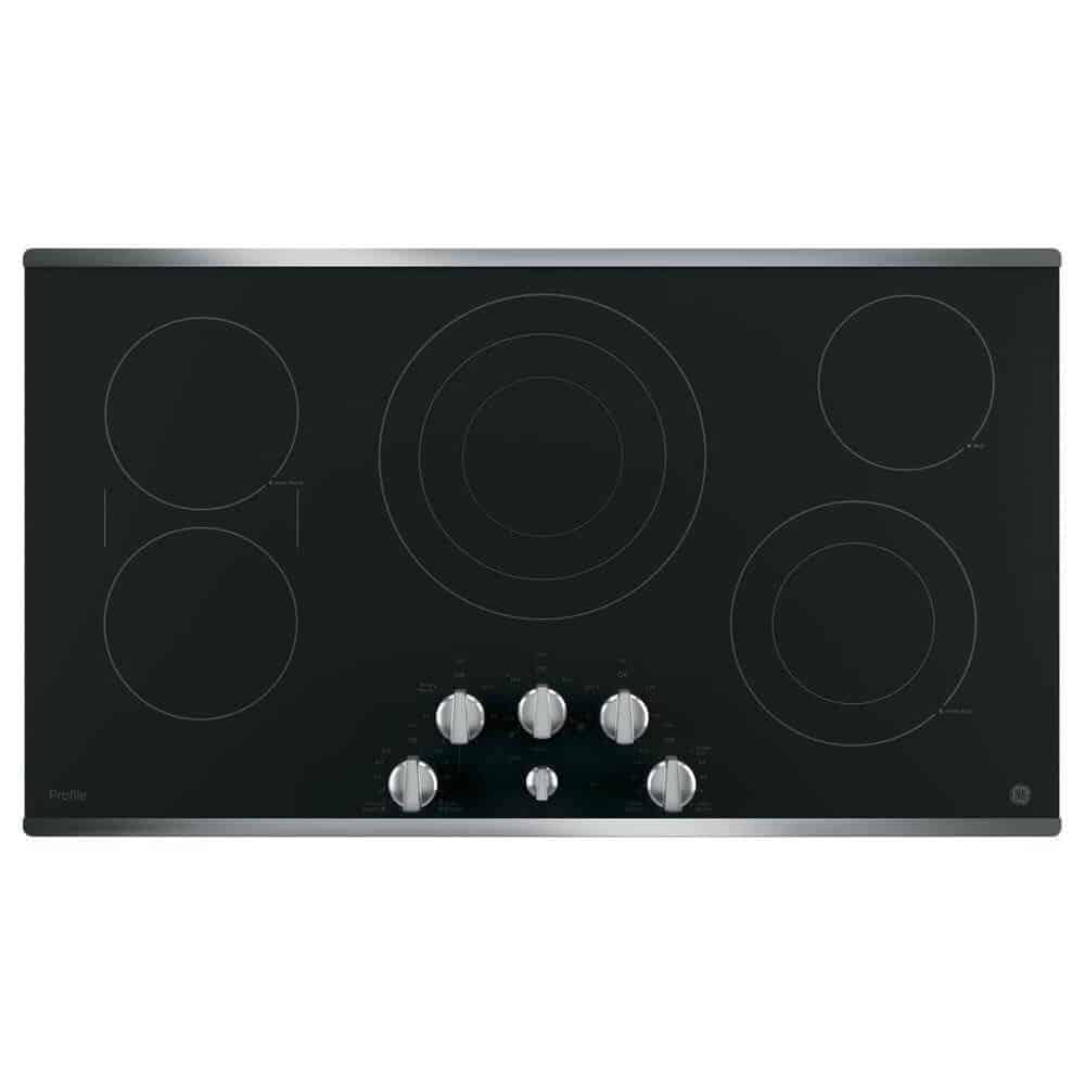Best-overall-electric-cooktop-GE-Profile-PP7036SJSS