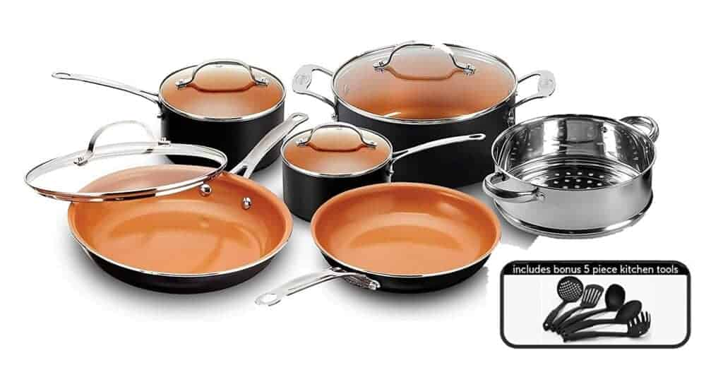 Gotham Steel Copper Nonstick Frying Pan and Cookware Set