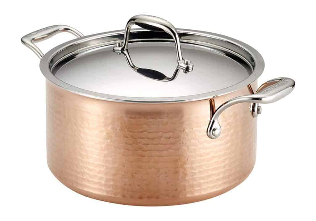 Lagostina Q5544664 Martellata Tri-ply Hammered Stainless Steel Copper Stewpot