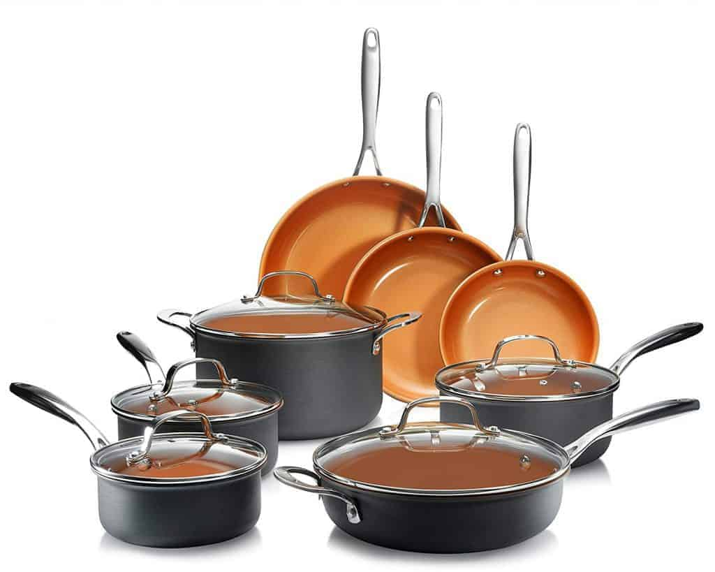 Most durable: Gotham steel 13 piece pan set