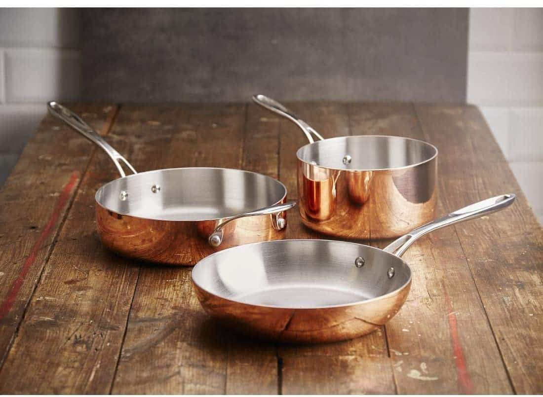 Best Round Copper Frying Pan Vogue tri-wall