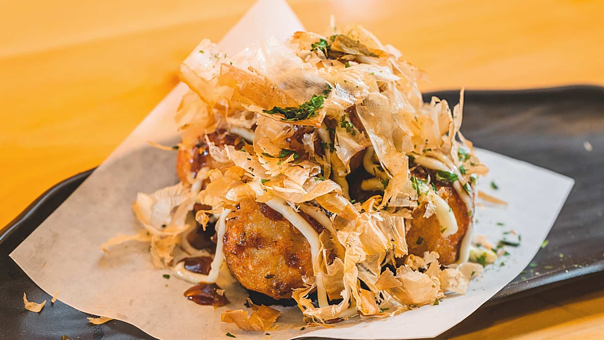 Fish takoyaki without octopus but with cod
