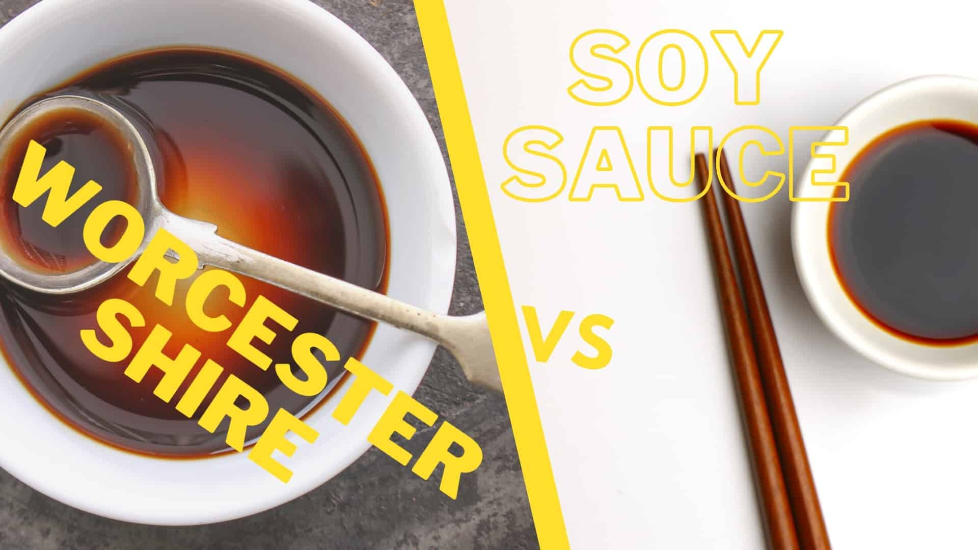 Worcestershire vs soy sauce