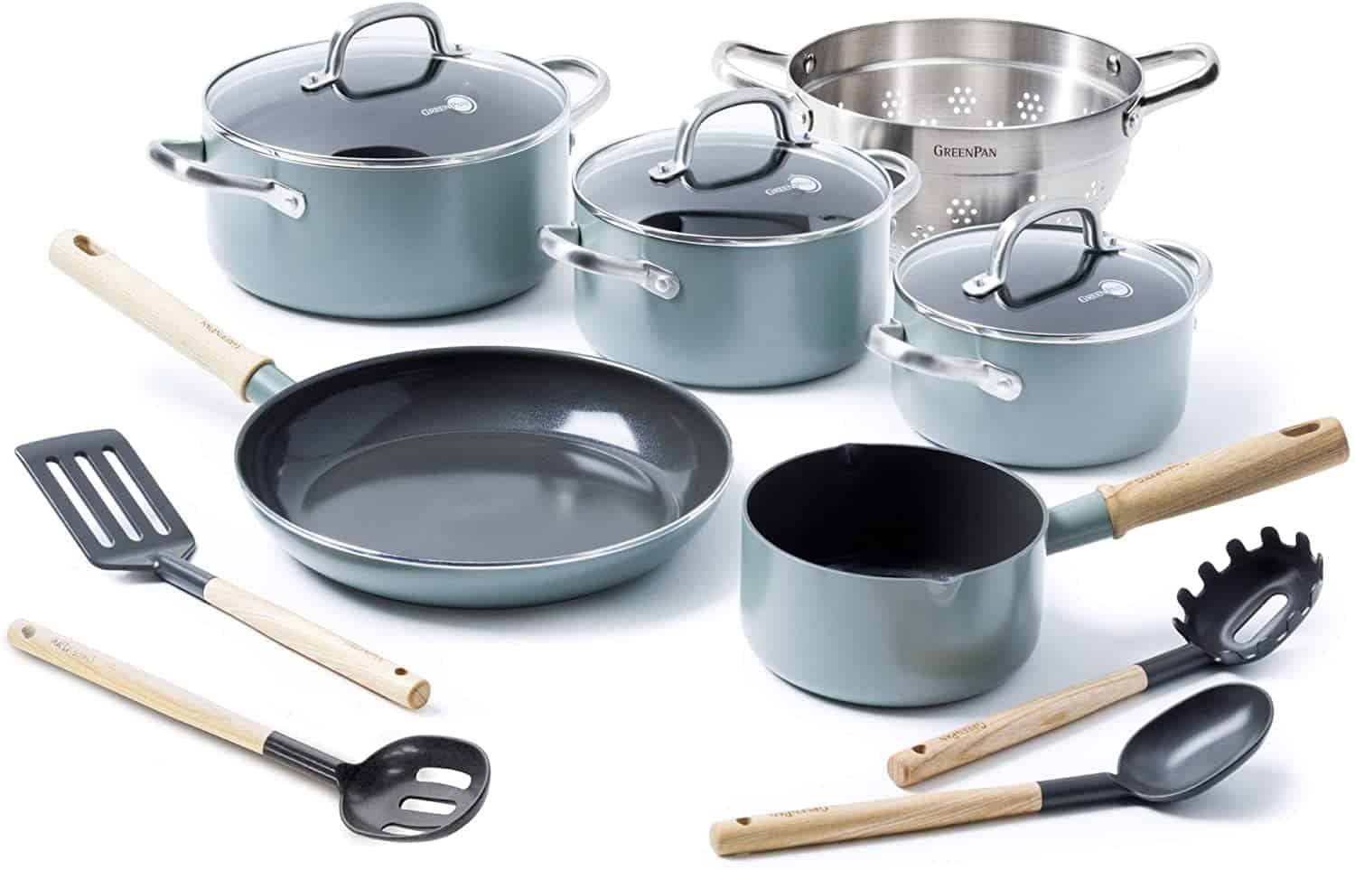 Best cookware set for ceramic stove top: Greenpan Mayflower