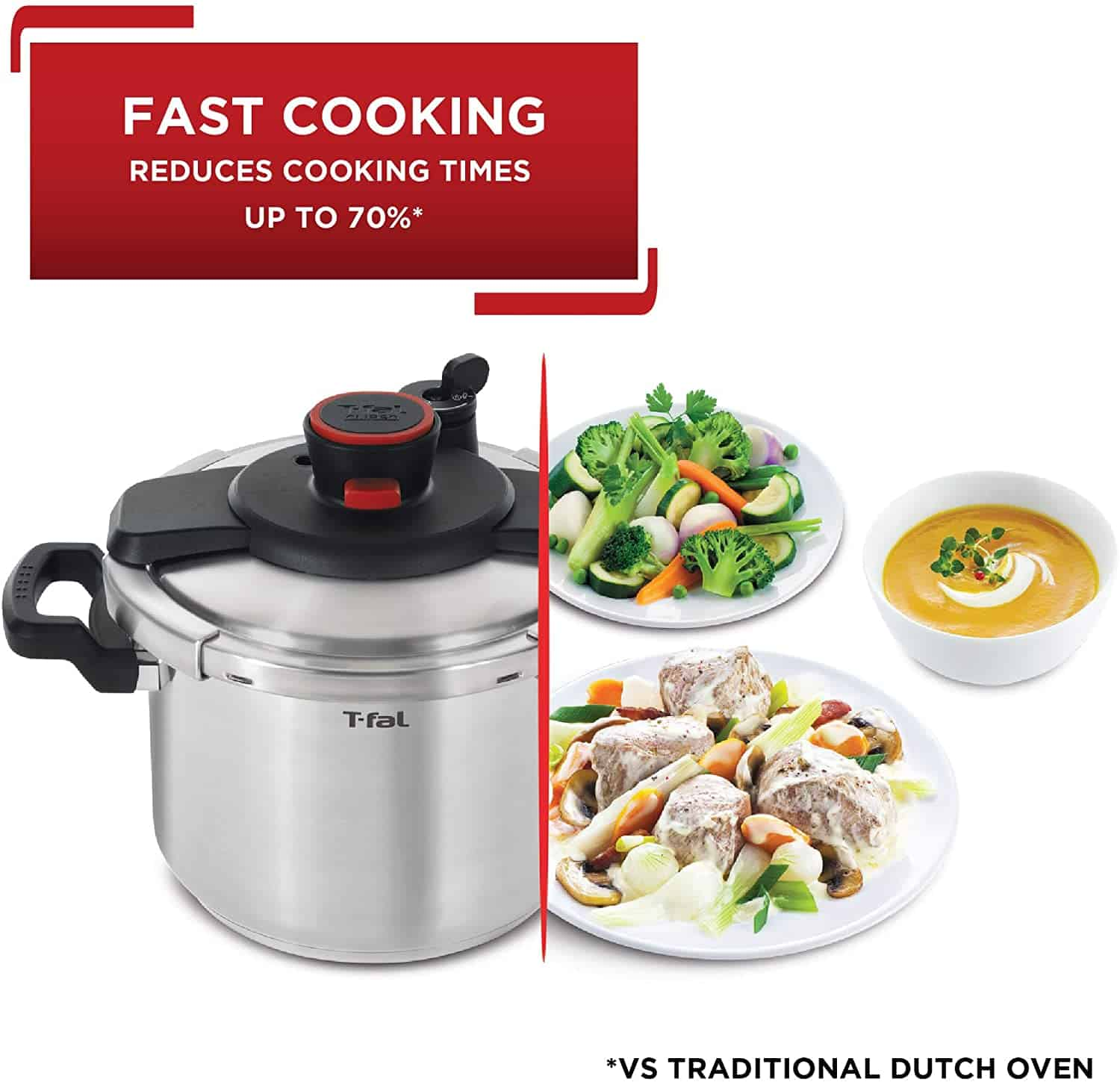 Overall best pressure cooker: Tefal Clipso