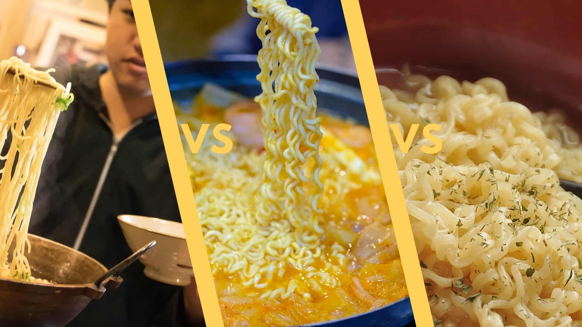 Ramen vs Ramyun vs Ramyeon