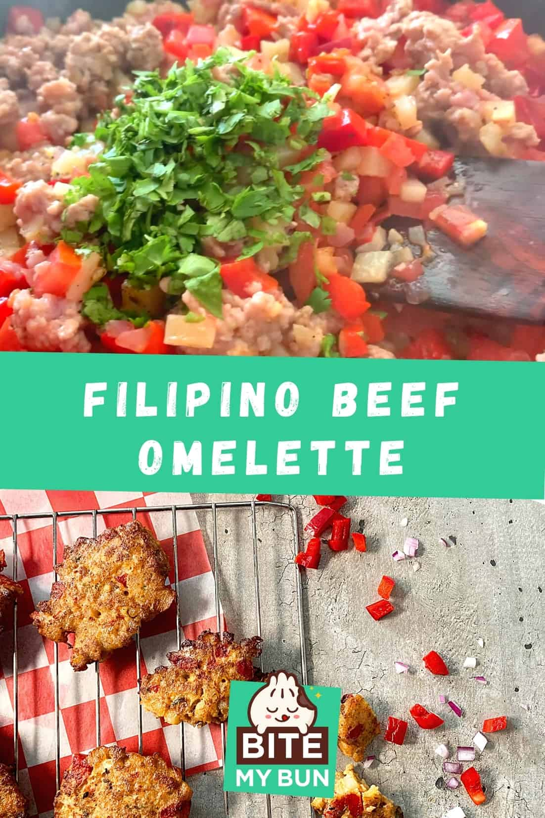 Tortang giniling filipino beef omelette