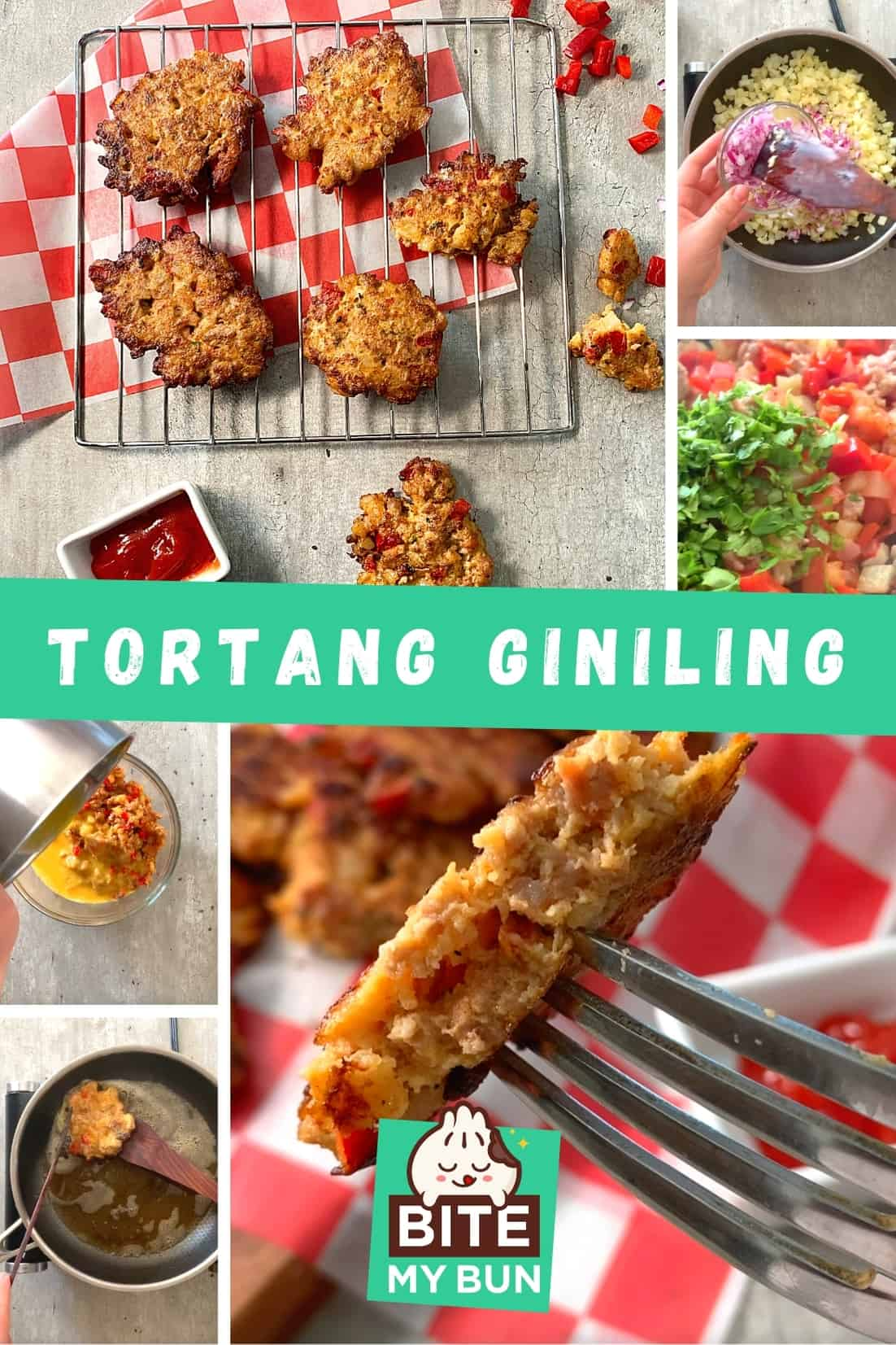 Tortang giniling with beef and eggs