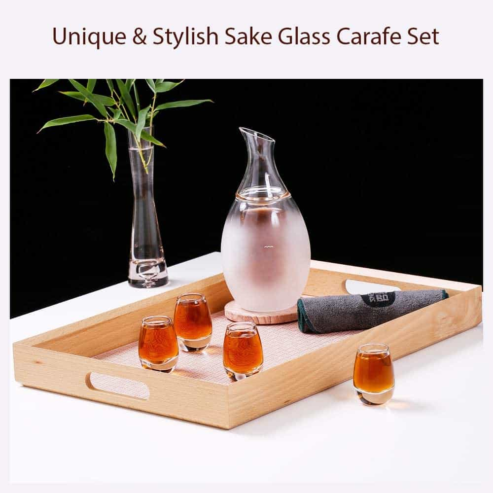 Best Glass Sake Warmer Set: ZENS Sake Set Glasses