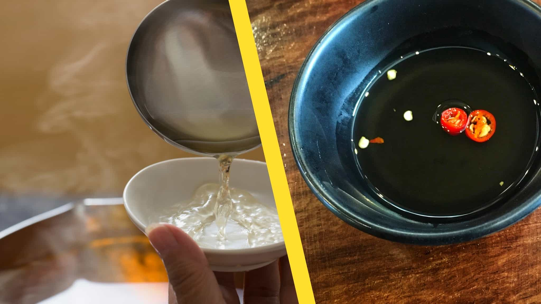 Dashi vs sauce de poisson: fabricants d'umami mais pas interchangeables