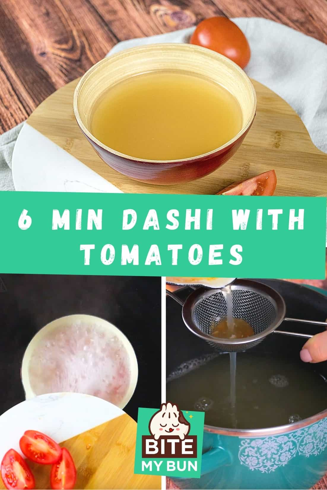 6 minute dashi with tomatoes
