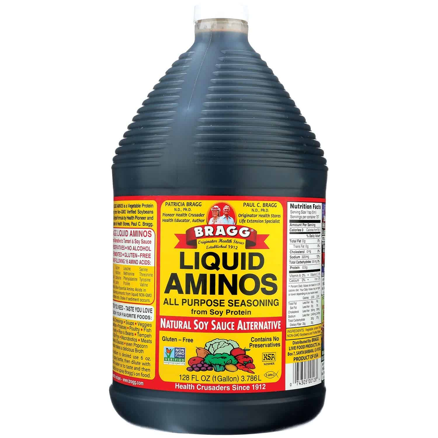 Liquid aminos as a soy sauce substitute