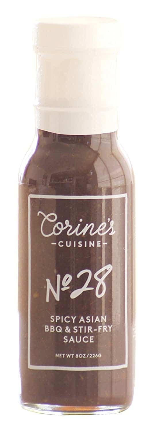 Corine's Cuisine Sauce No. 28 Spicy Asian BBQ and Stir-Fry Sauce for rice
