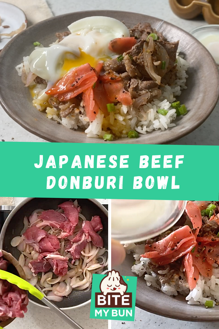 Gyudon recipe | Try this yummy & satisfying Japanese beef Donburi bowl featured