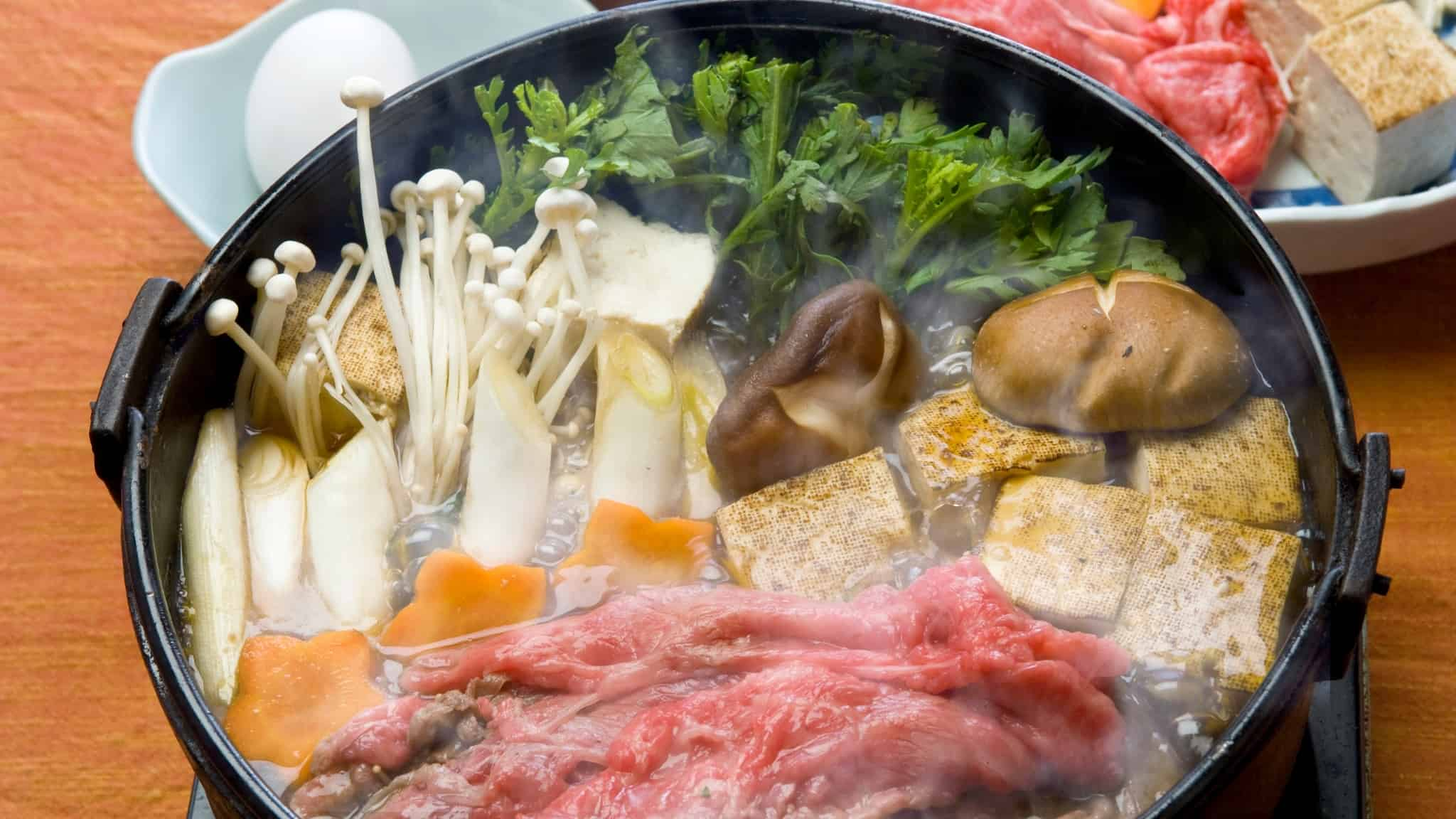 Sukiyaki recipe | Fun family favorite hot pot meal for social dining