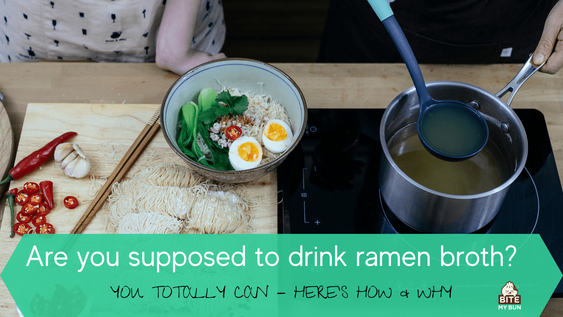 are you supposed to drink ramen broth