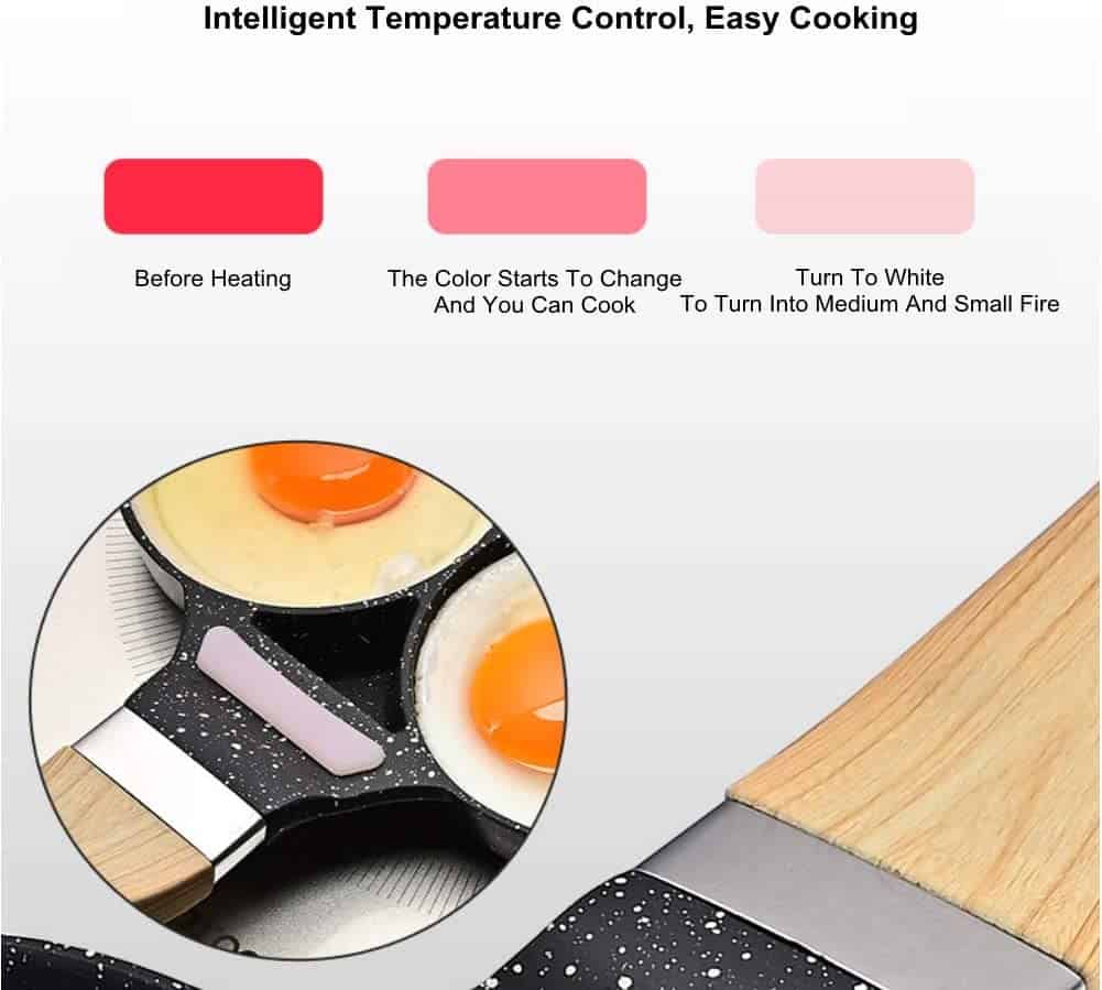 Best multi-purpose imagawayaki pan with no lid & best for induction- Thincol Pancake Pan temperature control strip explained