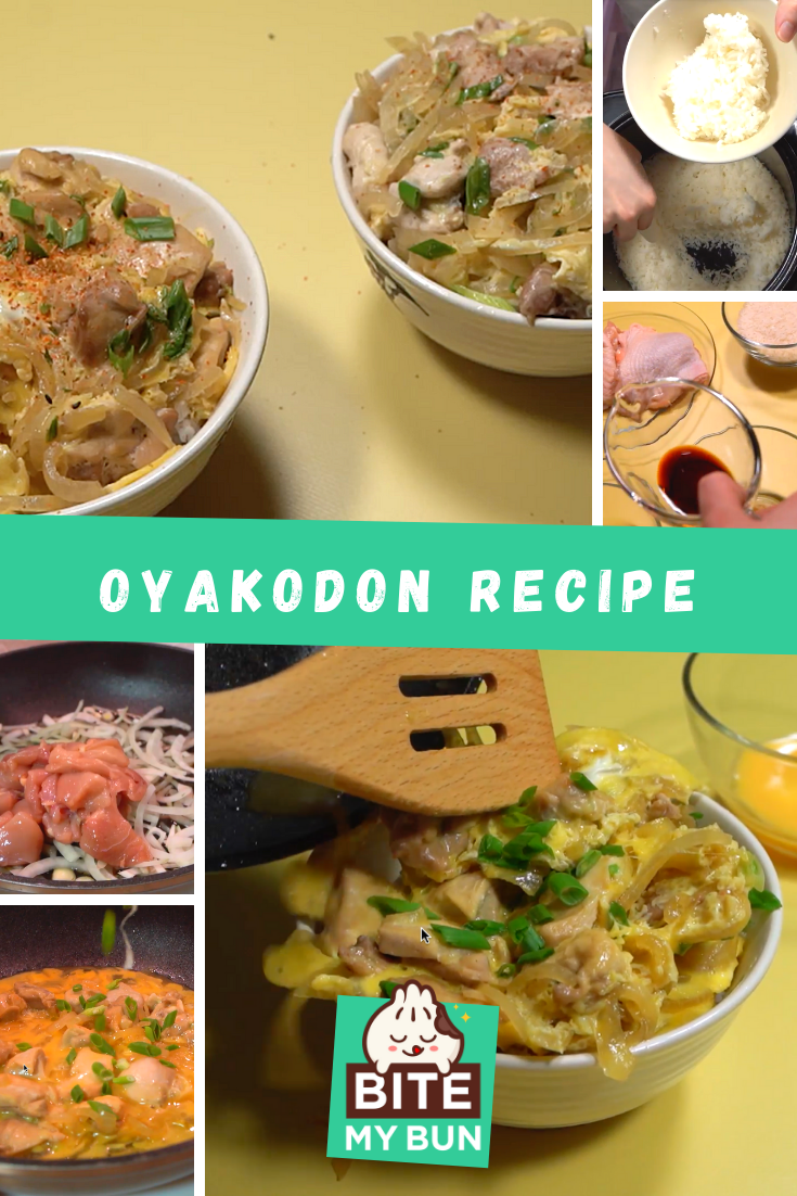 Oyakodon recipe (Chicken & egg bowl) with the secret to perfect rice featured