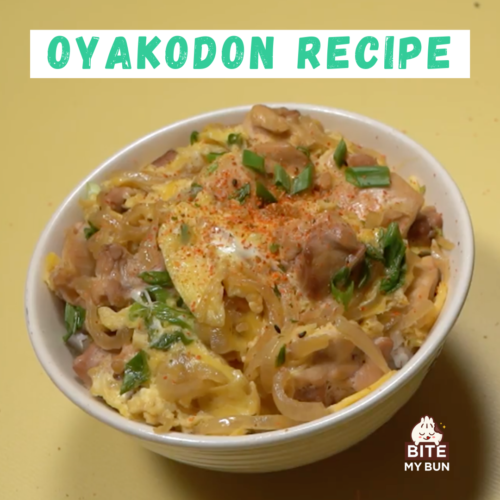 Oyakodon recipe (Chicken & egg bowl) with the secret to perfect rice recipe