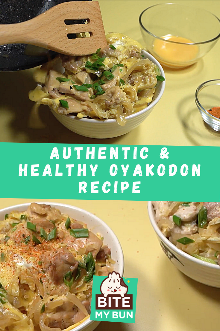 Oyakodon recipe (Chicken & egg bowl) with the secret to perfect rice recipe pinned