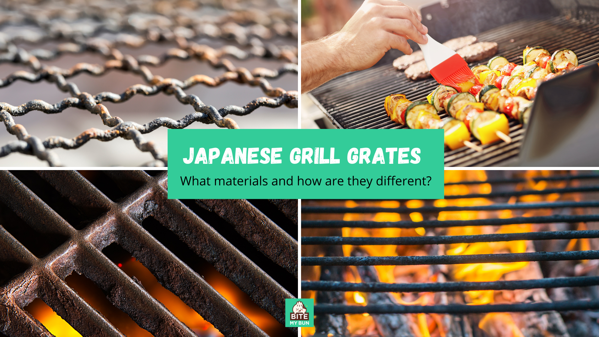 Japanese grill grates   What materials and how are they different?