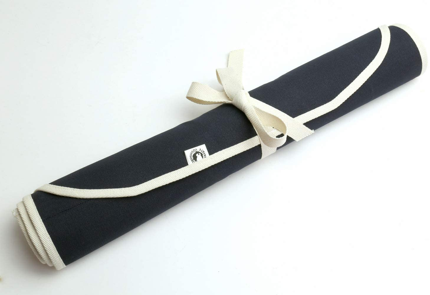 Best overall Japanese knife roll- Yoshihiro Cotton Knife Pouch rolled up