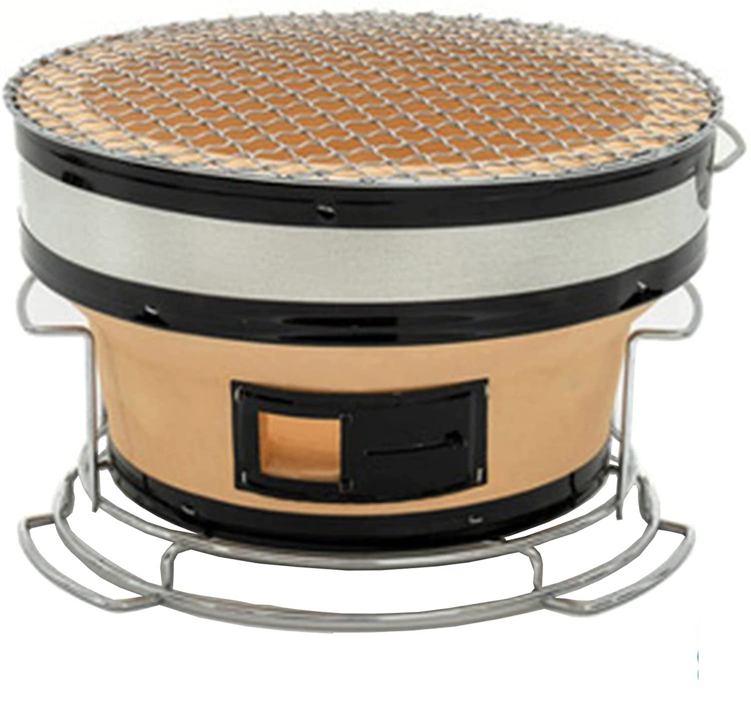 Best portable Japanese tabletop charcoal hibachi grill- ADIMA Japanese Ceramic Clay Grill