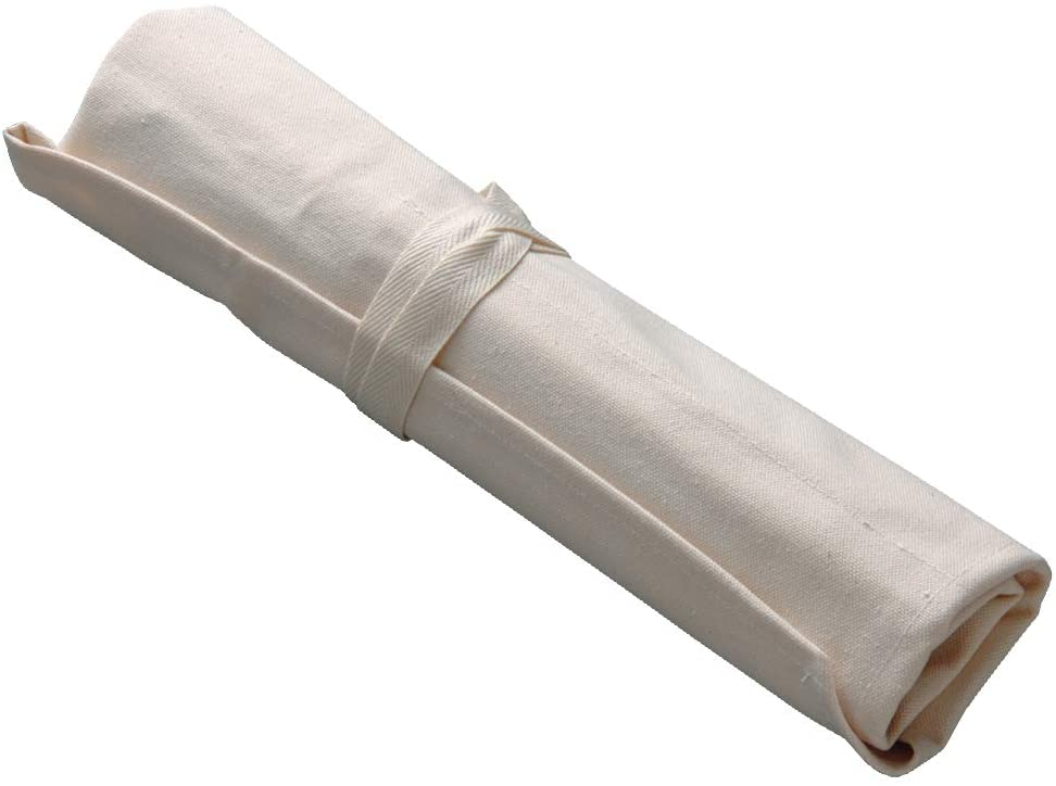 Best small Japanese knife roll- Tojiro Canvas Knife Pocket rolled up