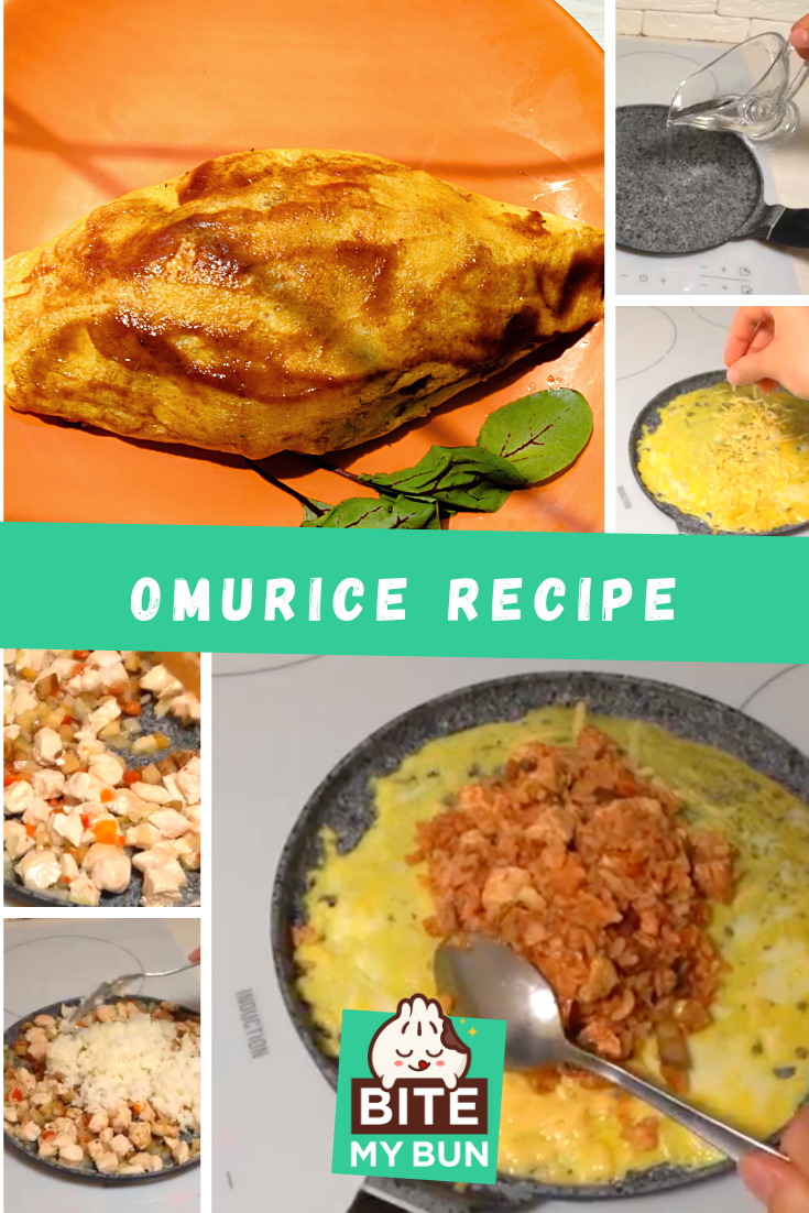 How to cook perfect Omurice- The FOOTBALL of Japanese rice omelettes recipe pin